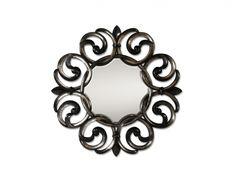 Alden Parkes Helene Mirror - Graceful curves - hand-carved solid mahogany at Estate of Design