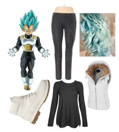 Vegeta dragon ball super by kbykiewicz on Polyvore featuring polyvore fashion style Kinross LE3NO Dex Timberland clothing