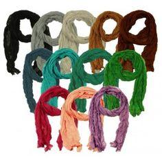 #Krøl #Tørklæde - #Ensfarvet fra #tankestrejf.dk