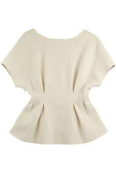 Shop Pleated Waist Raglan Sleeves White Blouse at ROMWE, discover more fashion styles online. Blouse Styles, Blouse Designs, Design Of Blouse, Blouses For Women, Cheap Blouses, Shirt Blouses, Satin Blouses, African Fashion, Ideias Fashion