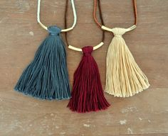 Bar Tassel Necklaces