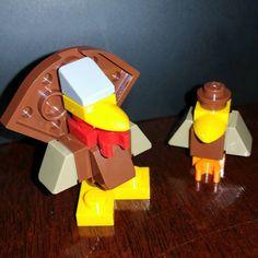 Hekkle & Turkkey a wacky new comedy duo! #Lego #crow #turkey #toyphotography #legostagram #autumn #ThanksgivingHarvest #Lego40261 #Brickstagram #LatePost #Latestagram