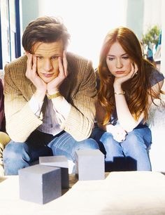 """Matt Smith as The Doctor and Karen Gillan as Amy Pond - """"The Power of Three"""""""