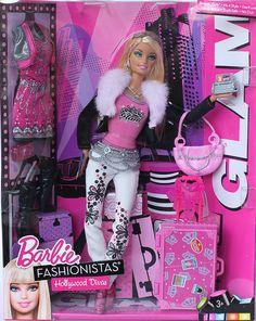 Fashionistas Hollywood Divas World Tour Collection Glam, boxdate 2010 Barbie Doll Set, Barbie Party, Beautiful Barbie Dolls, Barbie I, Barbie Dream, Barbie World, Barbie And Ken, Barbie Clothes, Pop Star Costumes
