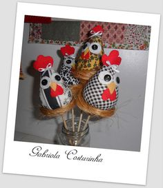 ♥♥ Espetos de vaso ♥♥ by Gabriola Costurinha, via Flickr