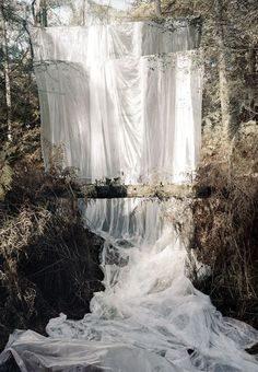 """Les Amants (cascade)"" by Noemie Goudal    Great waterfall effect for background"