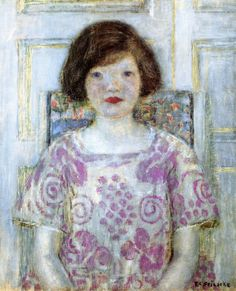 Frederick Carl Frieseke (American, 1874-1939) : Portrait of Frances, 1920. Private collection.