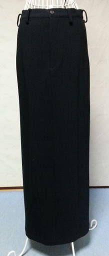 Black Wool Long Skirt Yohji Yamamoto VG