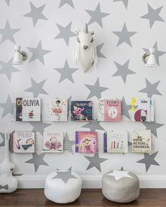 Sissy + Marley | Momma Society - The Community of Modern Moms | www.mommasociety.com | Lucite Clear Book Shelves