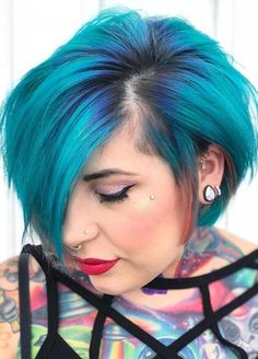 48 Awesome Blue Hair Colors for Short Hair 2018. If you are looking for suitable hair color ideas to apply with short hair then you are on the right place. We can show you here a list of modern hair colors which are really amazing choice for ladies to wear for short and medium length hair. Prefect shades of blue colors are fantastic options for ladies to make them look cute and sexy.