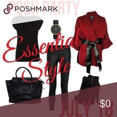 PARTY ANNOUNCEMENT! 7/18 Essential Style Party Can't wait to host the Essential Style Party on 7/18 !! If you have never had a host pick, leave me a comment here and I'll check out your closet!! Can't wait to share all your awesome pieces! Party Accessories