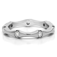 This Unique Eternity Wedding Anniversary Ring by TwoBirch is an example of twenty plus years in the jewelry industry, combined with cutting edge techniques in production. TwoBirch combines function and art in this extensive line of gorgeous wedding rings