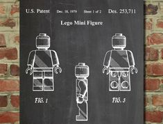 lego parts patents wall art poster #verycool #lego #posters
