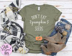 Don't Eat Pumpkin Seeds Tshirt, Pumpkin Pregnancy Announcement Shirt, Fall Baby Reveal Tee, Expecting Mom Shirt, Autumn Pregnant Shirt, Top Fall Shirts, Mom Shirts, Funny Shirts, Funny Pregnancy Shirts, School Shirts, Football Pregnancy Announcement, Blessed Shirt, Christian Shirts, Christian Clothing