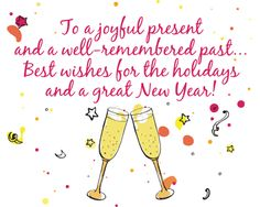 Share best wishes for the holidays & a great #NewYear with this elegant #Ecard.  #HappyNewYear #Wishes #Greetings. www.123greetings.com