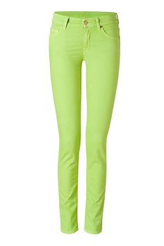 Cutest Lime Green Pants!! Jean jacket and these pants would be BFF's!!