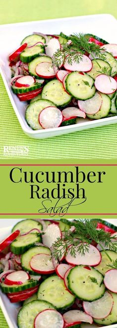 Dilled Cucumber and Radish Salad | Renee's Kitchen Adventures - easy salad made with fresh cucumbers and radish accented with dill. Perfect Spring vegetable side dish for any meal!