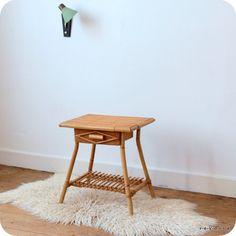 Chevet rotin un tiroir   revoila objets et mobilier du XXe siècle