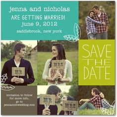 Signature White Photo Save the Date Cards Homespun Leaves - Front : Bay