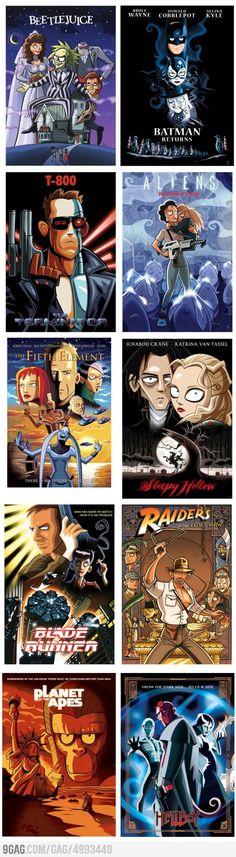 Cartoon Style Movie Posters