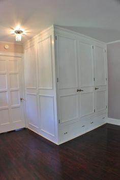 Built in white closet.