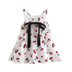 * Sleeveless<br /> * Allover print<br /> * Pleated waist<br /> * Material: 100% Cotton<br /> * Machine wash, tumble dry<br /> * Imported