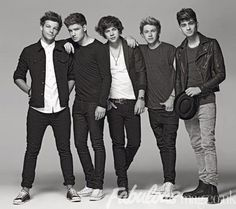 One direction black and white!!