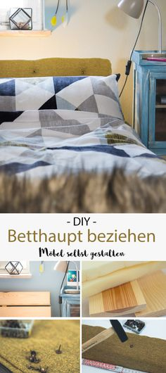 DIY Betthaupt   Einfach Und Günstig Selber Machen! | Pinterest | Diy Bett,  Kopfteile Und Nachgemacht