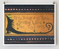 counted cross stitch pattern  Something Wicked by thecottageneedle, $8.00