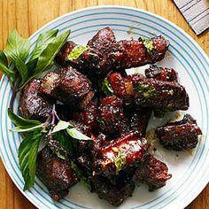 Chinese Glazed Riblets with Garlic and Thai BasilRecipe