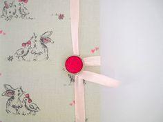 Cute bunnies journal Handmade journal notebook by Newleafjournals