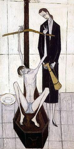 Déposition de croix, huile sur toile, 200 x 97 cm, 1948. Musée Bernard Buffet.