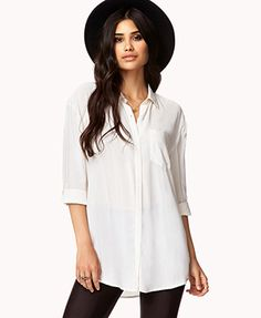 Button Tab Shirt | FOREVER 21 - Less than $23