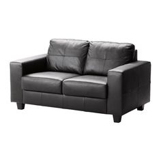 SKOGABY 2er-Sofa IKEA Sitzflächen und Armlehnen mit weichem, robustem und pflegeleichtem Narbenleder
