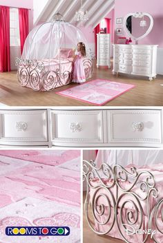 Dreams Begin With This Whimsical Cinderella Carriage Bed. Including Tent  And Canopy, This Magical