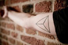 Minimalism, 3D Triangle tattoo