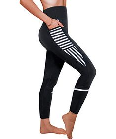 f19f28ba39 Ursexyly Women Sauna Weight Loss Sweat Pant Fashion Design Slimming  Neoprene Hot Body Shaper Leggings  leggings