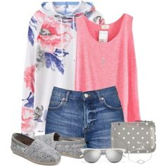 Floral Hoodie and Shorts
