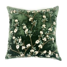 "ANKE DRECHSEL TUILERIES LIGHT GREEN PILLOW 20""SQ - Sue Fisher King (5.436.385 IDR) ❤ liked on Polyvore featuring home, home decor, throw pillows, mint green throw pillows, mint green accent pillows, handmade home decor, light green throw pillows and mint green home decor"