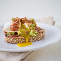 Creamy avocados with tangy salsa plus egg yolk-soaked toast in every mouthful.