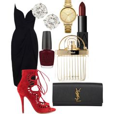 Date Night by olive-izzet on Polyvore featuring polyvore, fashion, style, Zimmermann, Modern Vice, Yves Saint Laurent, Oasis, NARS Cosmetics, Chloé and OPI