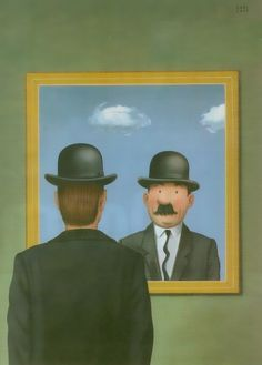 Magritte/Herge mash-up created by Karl Meersman to celebrate the opening of two new museums in Belgium (in 2009) that honour each artist. #art #cartoons #Tintin #Thompson