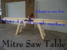 "Miter Saw Stand ""build Your Own"" How To Plans, New"