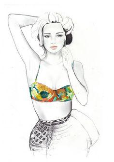 Artist: Sarah Hankinson #fashion #illustration #art
