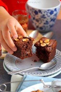 Mini-cakes au chocolat et amandes au Cake Factory · Aux délices du palais