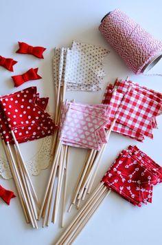 www.nataliecreatesshop.etsy.com happy flags for valentine's day!