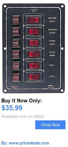 boat parts: Vertical Aluminum Rocker Switch Panel With 6 Switches Boat Marine BUY IT NOW ONLY: $35.99 #priceabateboatparts OR #priceabate