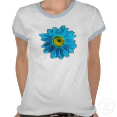 Daisy Flower blue T Shirt #Daisy #Flowers #blue #TShirts #Daisies  #FlowstoneGraphics Flowstone Graphics