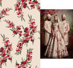 Shrivaishnodevicreation's #752 Pinterest Media analytics | pikove Fabric Patterns, Print Patterns, Floral Patterns, Fabric Design, Print Design, Groomsmen Outfits, Indian Wedding Photos, Print Wallpaper, Color Stories