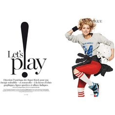 Vogue Paris Let's Play ❤ liked on Polyvore featuring text, words, articles, magazine and magazine article